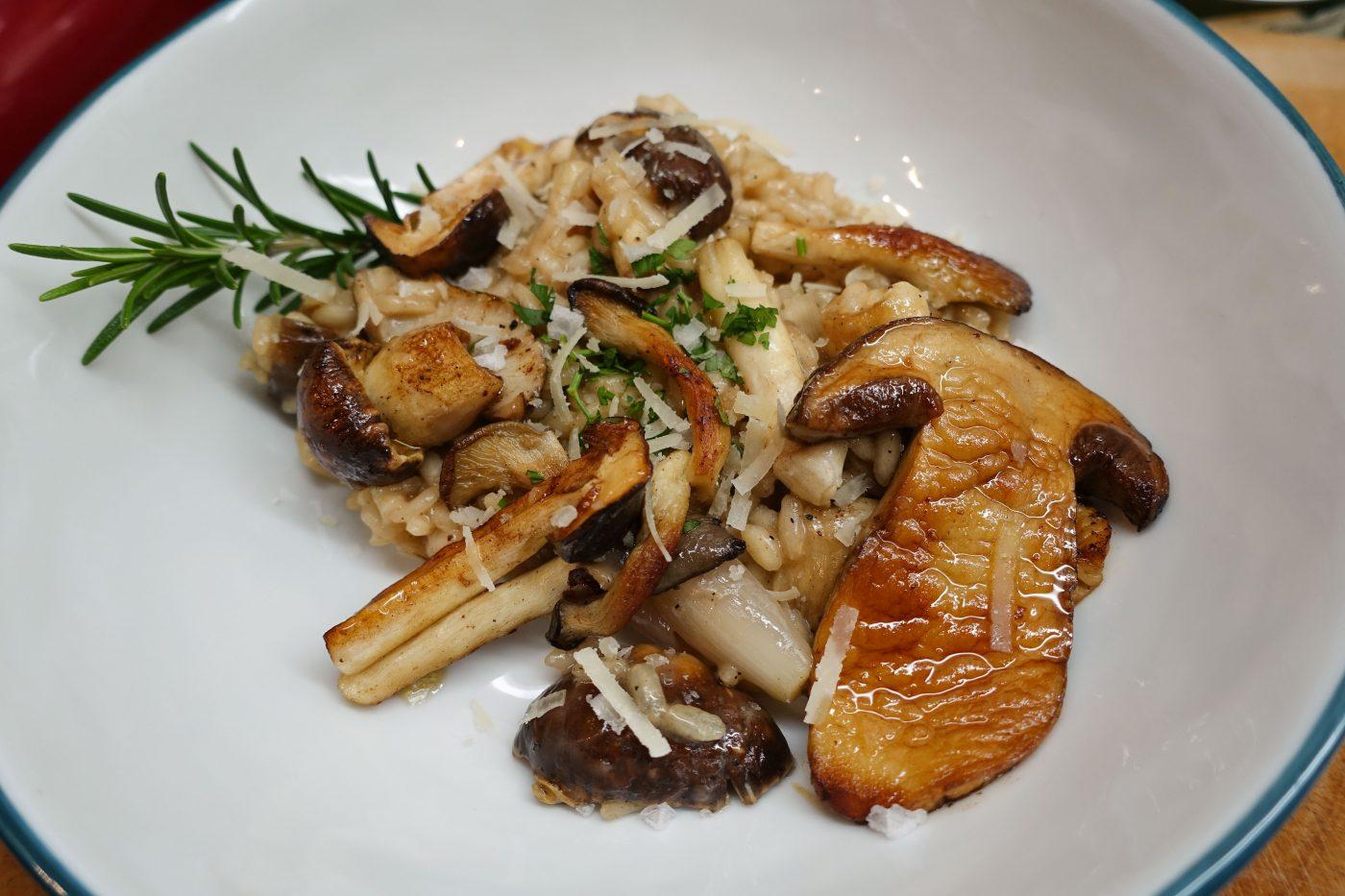 Mushroom risotto, simple, vegetarian, delicious