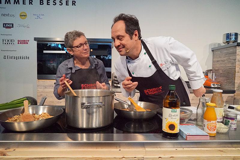 Show-Cooking auf der Frankfurter Buchmesse
