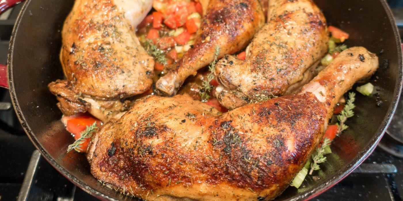 Huhn in Wermut Sahne Sauce