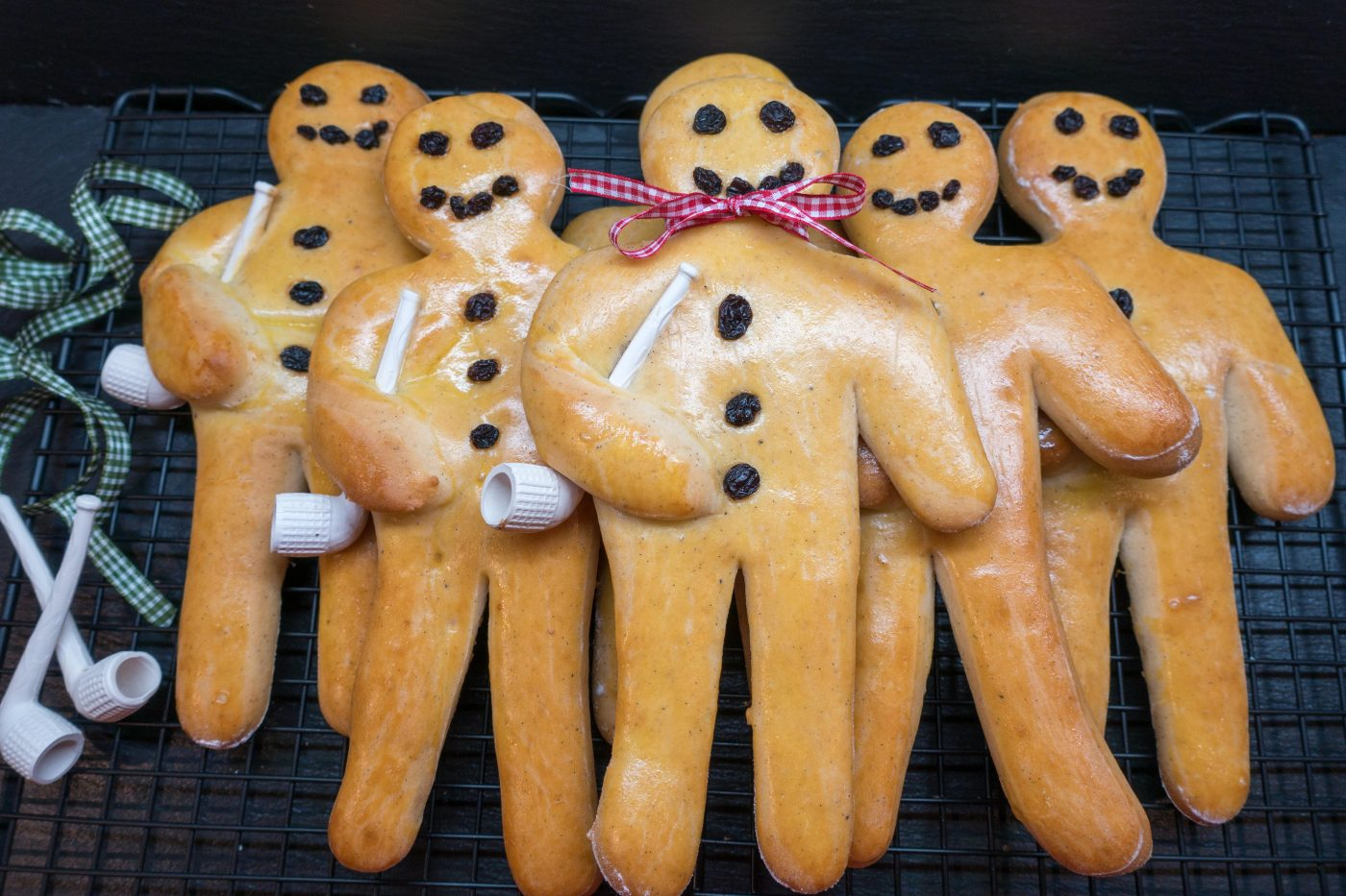"""Stutenkerl"" – a traditional German Saint Nicholas pastry shaped as a man with a pipe"