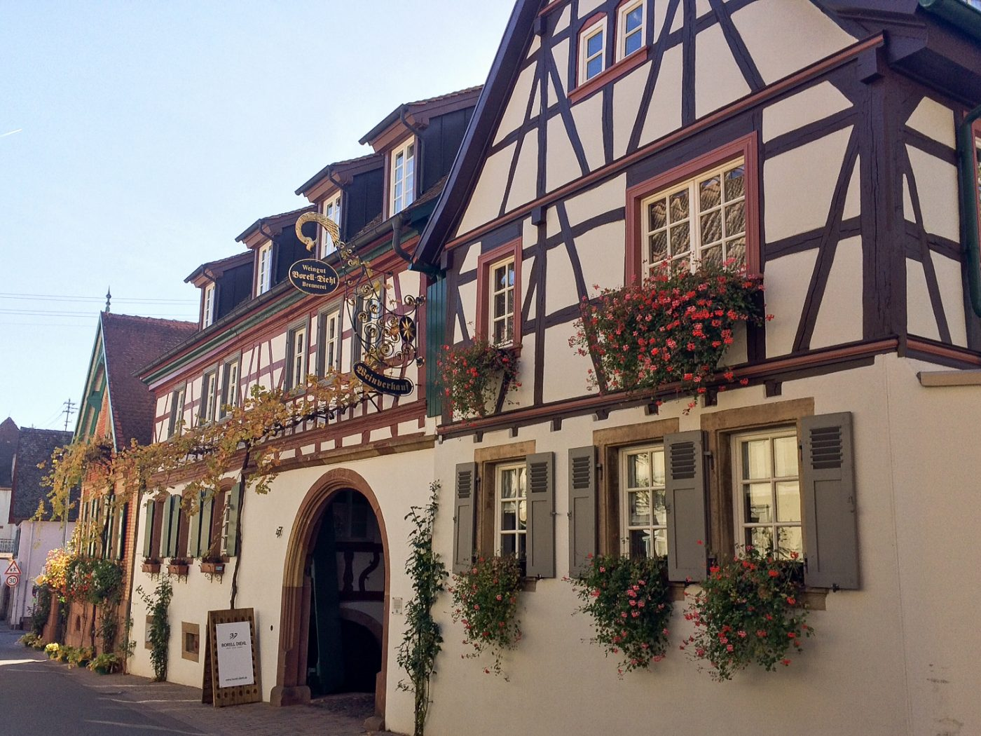 timbered facade winery Borell-Diehl, Palatinate