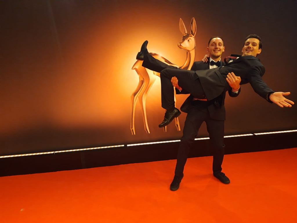 Fritz and Ulli wine during festivities of Bambi award 2018