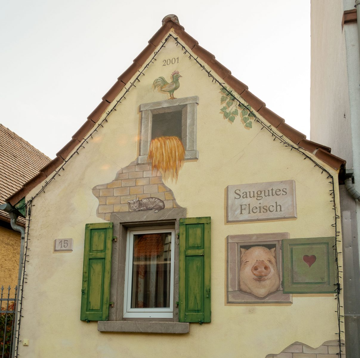 Fassade in Weisenheim am Berg, Pfalz